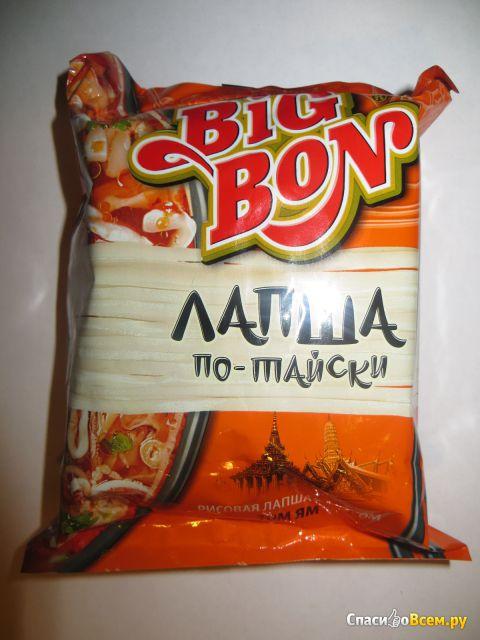 Лапша по-тайски Big Bon Рисовая лапша с соусом Том Ям фото