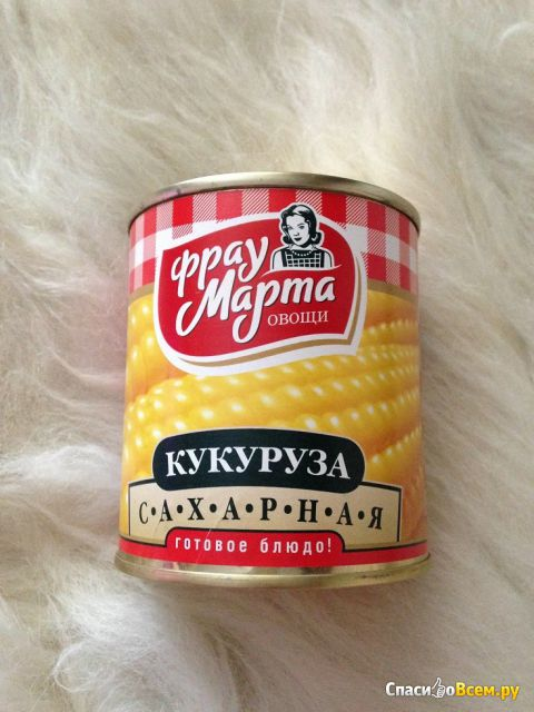 "Кукуруза сахарная консервированная ""Фрау Марта"" фото"
