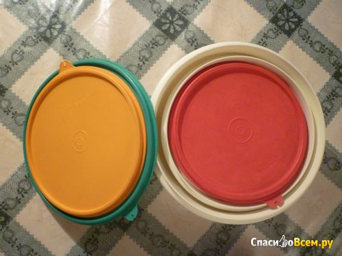 "Набор круглых контейнеров для хранения ""Миски-матрешки"" Tupperware фото"