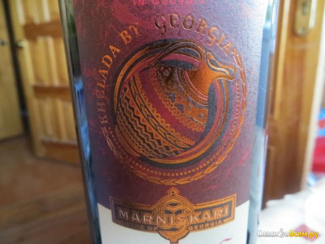 """Вино столовое красное полусухое """"Пиросмани"""" Marniskari фото"""