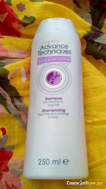 """Шампунь Avon Advance Techniques """"Красота длинных волос"""" для полудлинных и длинных волос фото"""