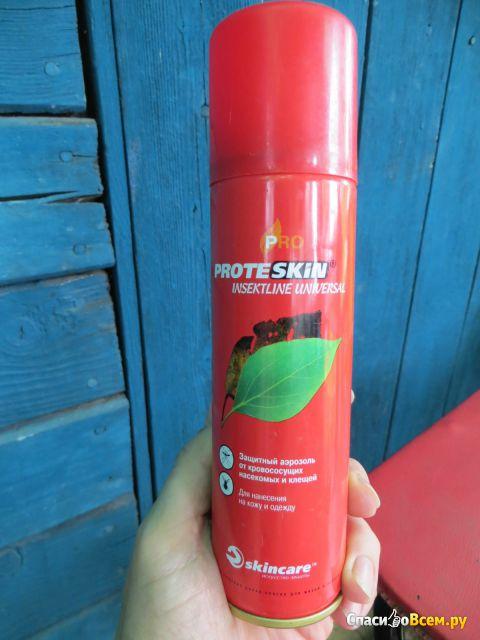 Защитный аэрозоль от кровососущих насекомых и клещей Proteskin Skincare фото