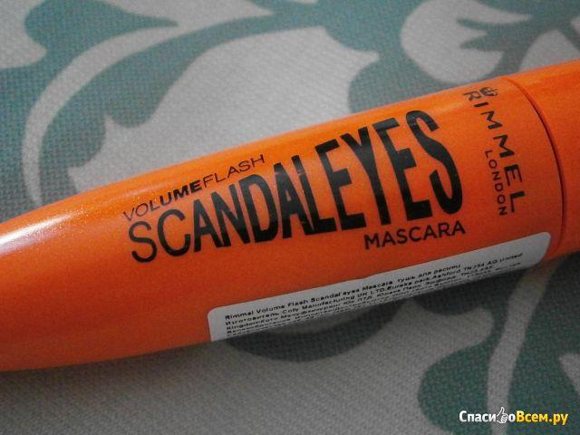Тушь для ресниц Rimmel Scandaleyes Mascara фото