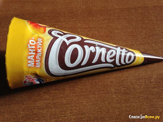 Мороженое Инмарко Cornetto манго-маракуйя фото