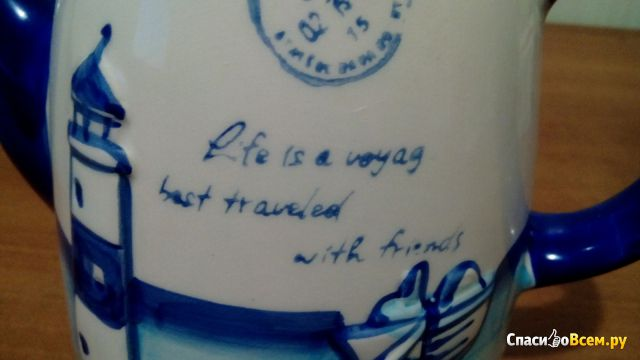 "Чайник ""Морской стиль"" синий Yiwu Ruxin Commodity фото"
