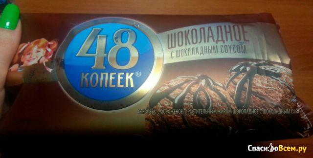 """Мороженое Nestle 48 копеек """"Шоколадное с шоколадным соусом"""" фото"""
