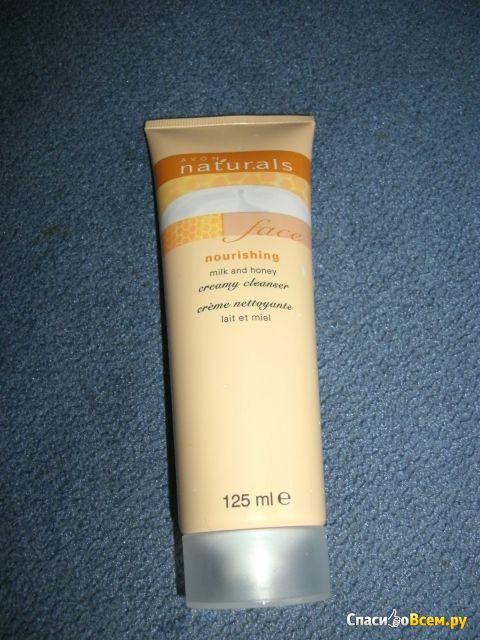 """Очищающее кремообразное средство для лица Avon Naturals """"Молоко и мед"""" фото"""