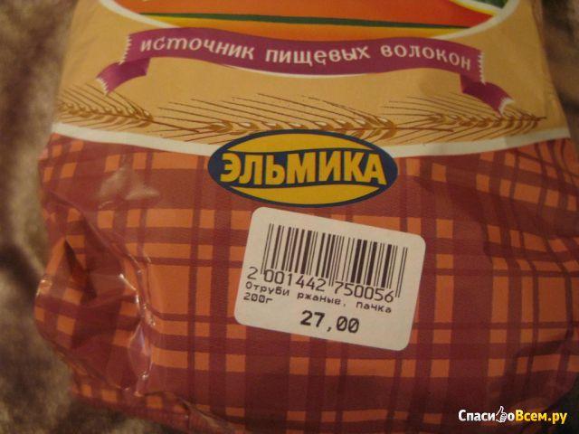 """Отруби хрустящие ржаные бородинские """"Эльмика"""" фото"""