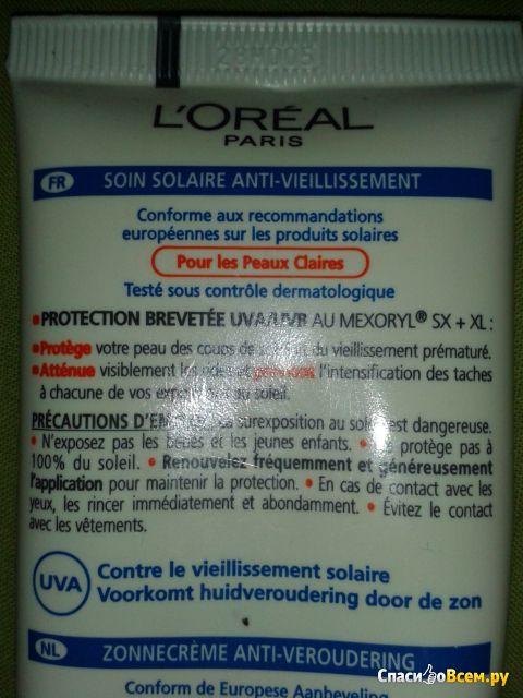 Солнцезащитный крем L'Oreal Solar Expertise Anti-Rides Anti-Taches SPF 30 фото