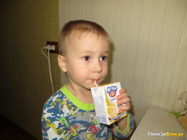"Молочный коктейль Агуша ""Я сам!"" Ваниль фото"