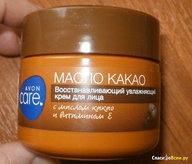 "Восстанавливающий увлажняющий крем для лица Avon Care ""Масло какао"" фото"