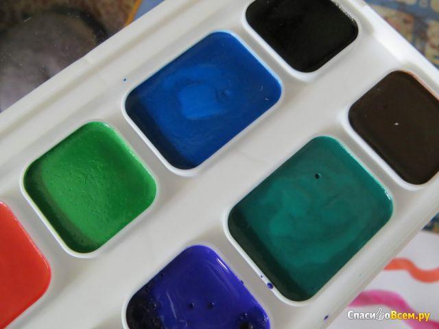 """Краски акварельные """"Луч"""" 12 цветов фото"""
