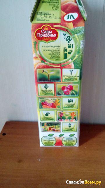 """Сок """"Сады Придонья"""" яблоко и персик с мякотью"""
