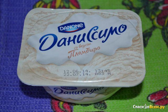 """Продукт творожный Danone Даниссимо со вкусом """"Пломбир"""" фото"""