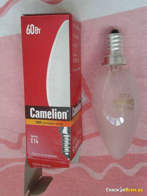 Лампа накаливания свеча матовая Camelion 60/В/FR/E14 фото