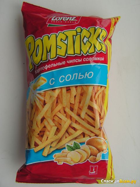Чипсы картофельные Lorenz Pomsticks с солью фото