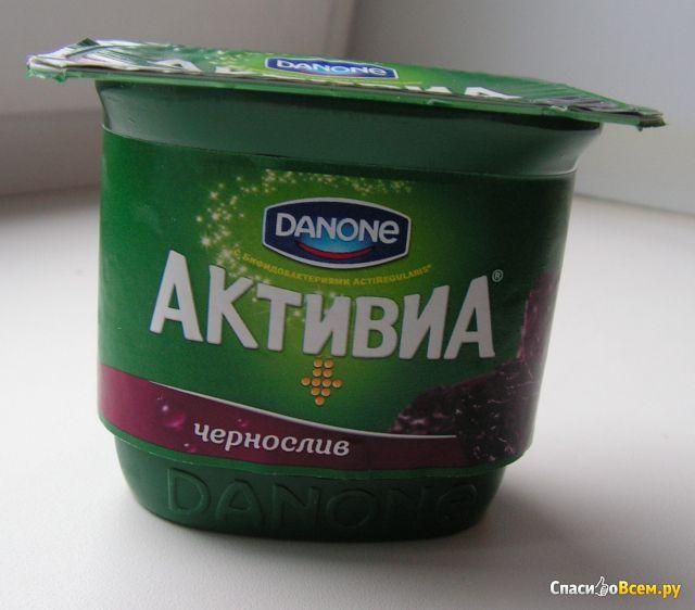 Йогурт Активиа чернослив фото