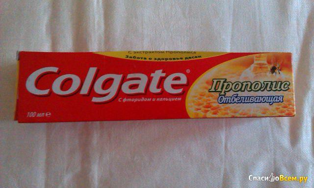 Зубная паста Colgate с прополисом отбеливающая фото