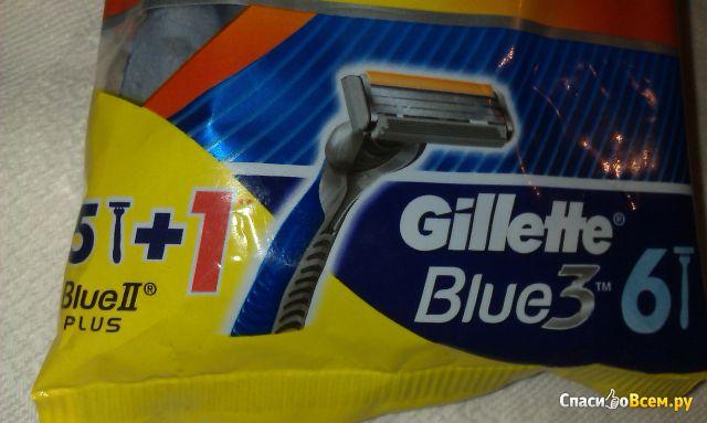 Бритвенные станки Gillette Blue II Plus одноразовые фото