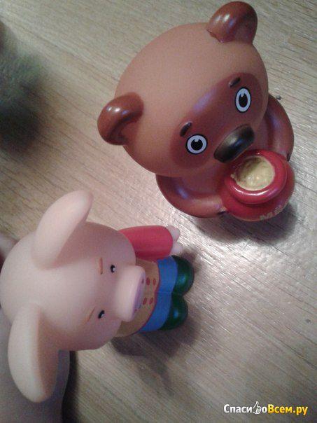 """Резиновая игрушка для ванны """"Хрюша"""" Затейники: Спокойной ночи малыши фото"""