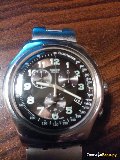 Часы мужские противоударные и водонепроницаемые свотч