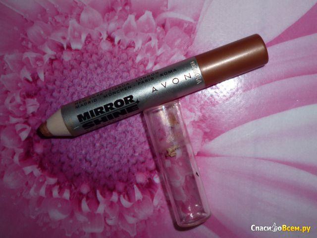 Тени-карандаш Avon Mirror shine Brown фото