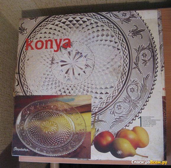 "Блюдо Pasabahce Konya Round Server 14"" фото"
