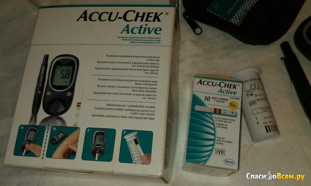 глюкометр accu-chek active инструкция видео