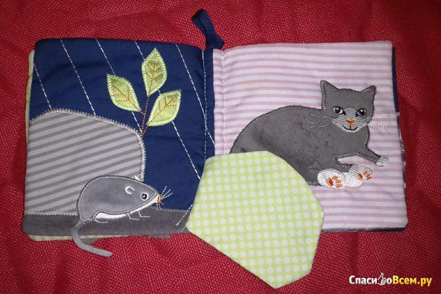 Развивающая мягкая книжка-игрушка для детей Ikea Лека фото