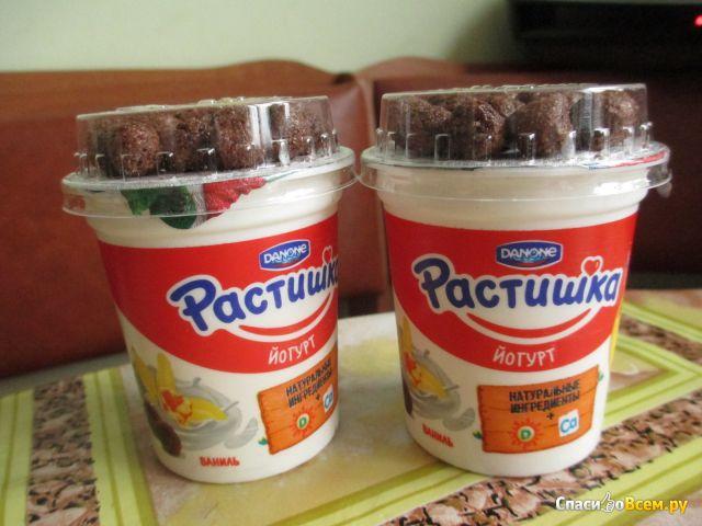 """Йогурт Danone """"Растишка"""" Ваниль с шоколадными шариками фото"""