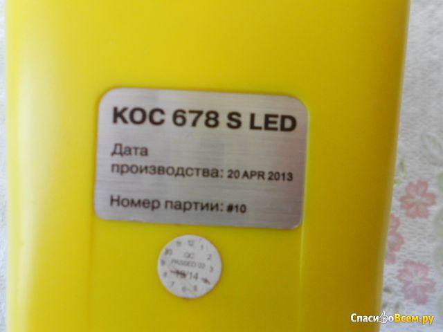 Фонарь аккумуляторный ''Космос'' 678S-LED фото