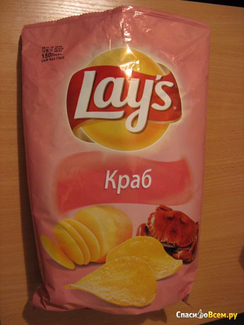 "Чипсы ""Lays"" Краб фото"