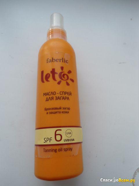 Масло - спрей для загара Faberlic Leto SPF 6 фото