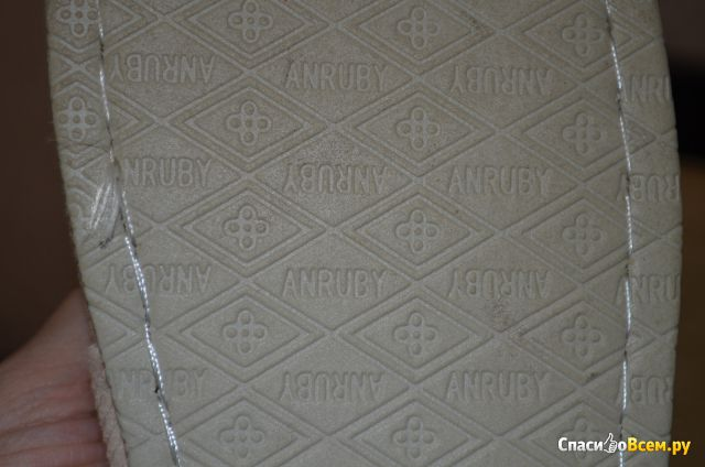 Женские домашние тапочки Anruby арт. Н5347Е фото