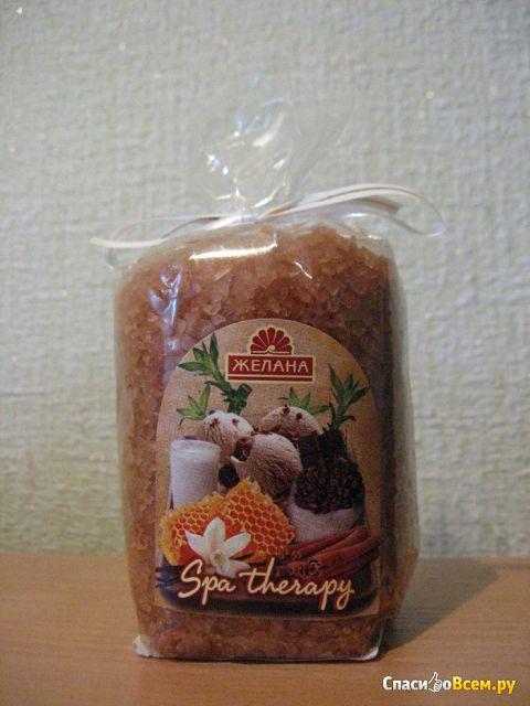 "Соль для ванны Желана Spa Therapy ""Горячий шоколад с корицей"" фото"