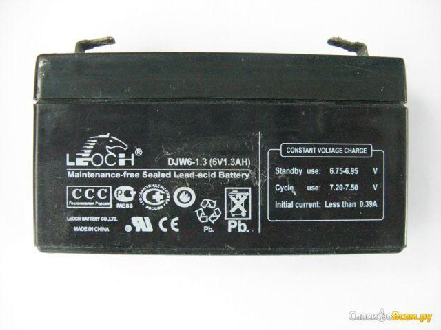 Аккумулятор Leoch DJW6-1,3 (6V1.3AH) фото