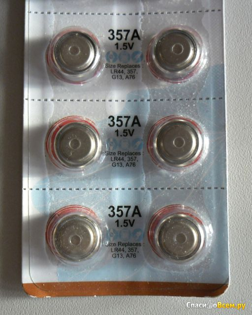 Батарейки Alkaline Button Cell 357A,1.5V Golden Power фото