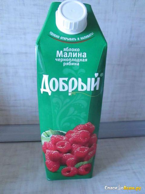 """Нектар """"Добрый"""" яблоко, малина, черноплодная рябина"""
