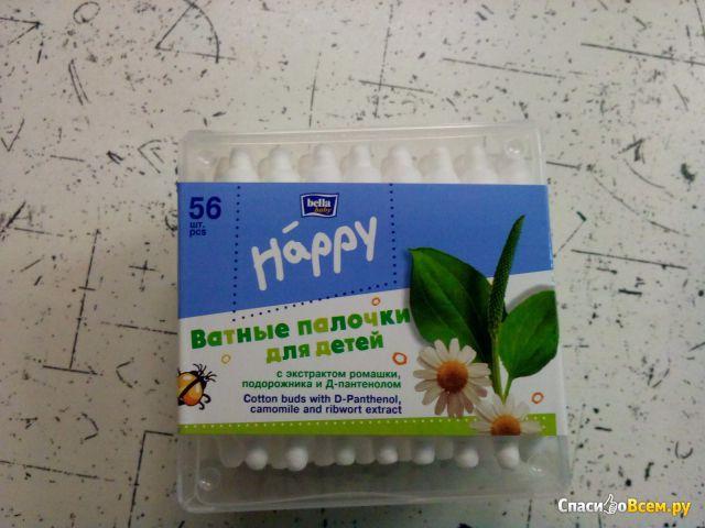 """Ватные палочки для детей Bella baby """"Happy"""" с экстрактом ромашки, подорожника и Д-пантенолом фото"""