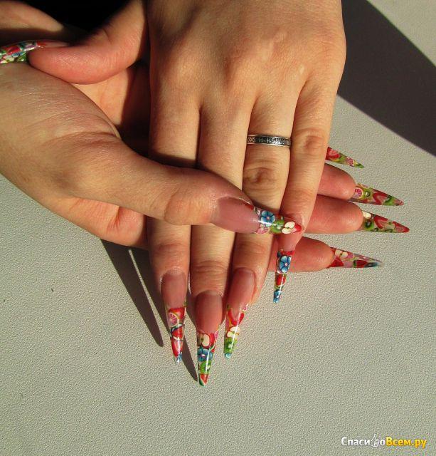 Фото нарощенных ногтей на моделях