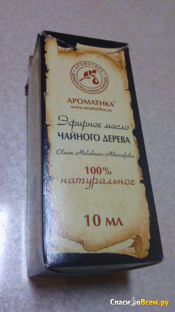 """Эфирное масло чайного дерева """"Ароматика"""" фото"""