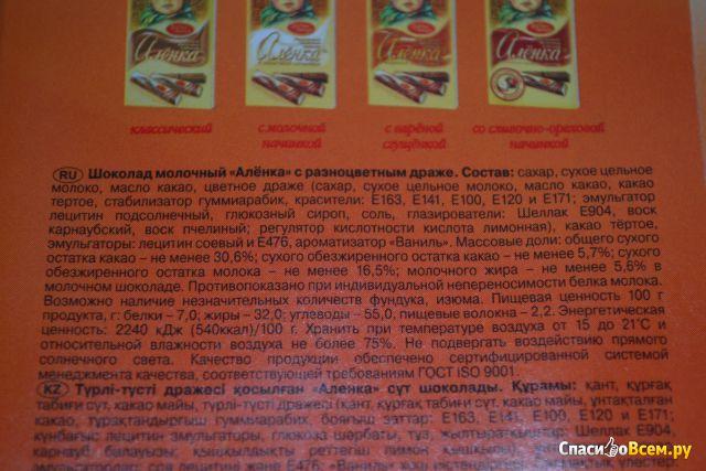 Молочный шоколад состав продукта