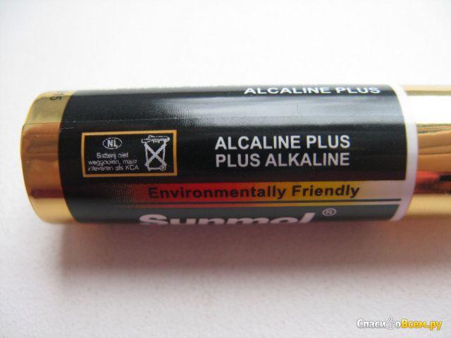 Батарейки Sunmol Maximum Life Batteries AA 1.5V LR6 AM3 Mignon MN1500 E91 Plus Alkaline фото
