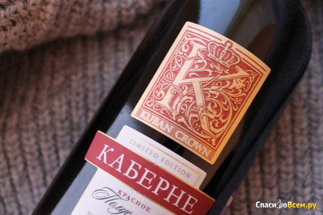 """Вино красное полусладкое """"Кубанская Корона"""" Каберне фото"""