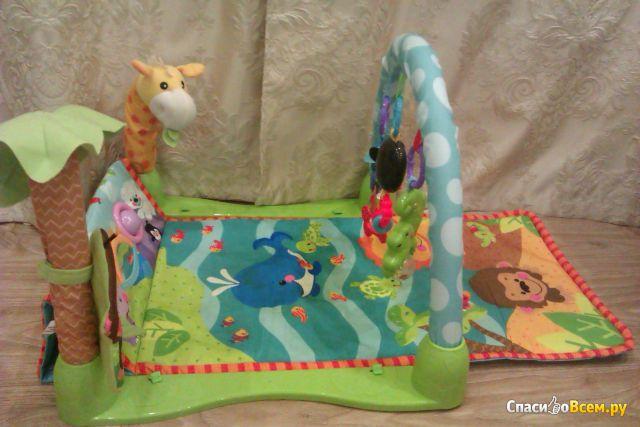 """Музыкальный коврик Joy Toy """"Умный малыш"""" дуга с подвесными игрушками фото"""