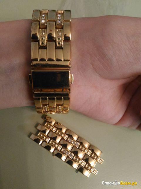 Женские кварцевые наручные часы из нержавеющей стали Geneva N716 фото