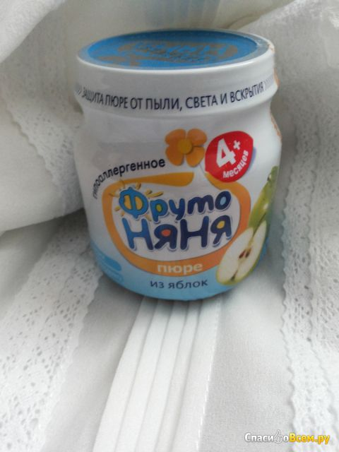 Пюре «ФрутоНяня» из яблок гипоаллергенное фото