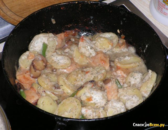 Быстрозамороженный готовый продукт Шампиньон де Пари «4 сезона» Французское блюдо