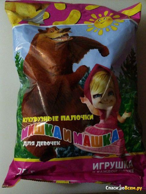 Сухие завтраки Кукурузные палочки сладкие Для девочек «Мишка и Машка»
