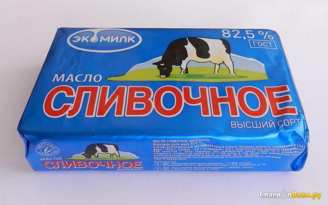 """Сливочное масло """"Экомилк"""" 82,5% фото"""